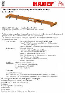 Hand und Elektro Einträger-Bruckerlaufkran