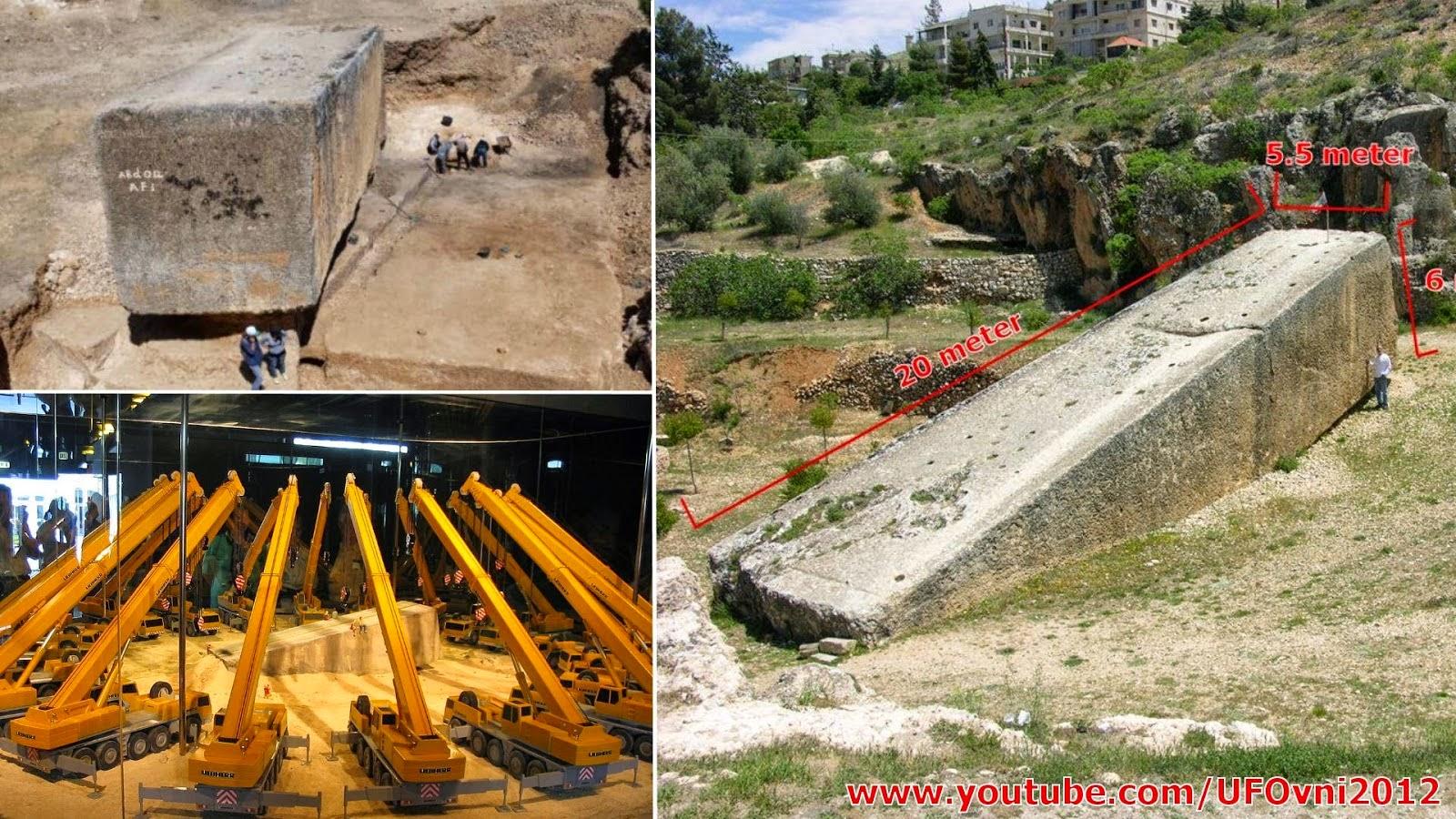 Plus grand bloc de pierre monolithe du monde découvert à Baalbek sanctuaire romain au Liban