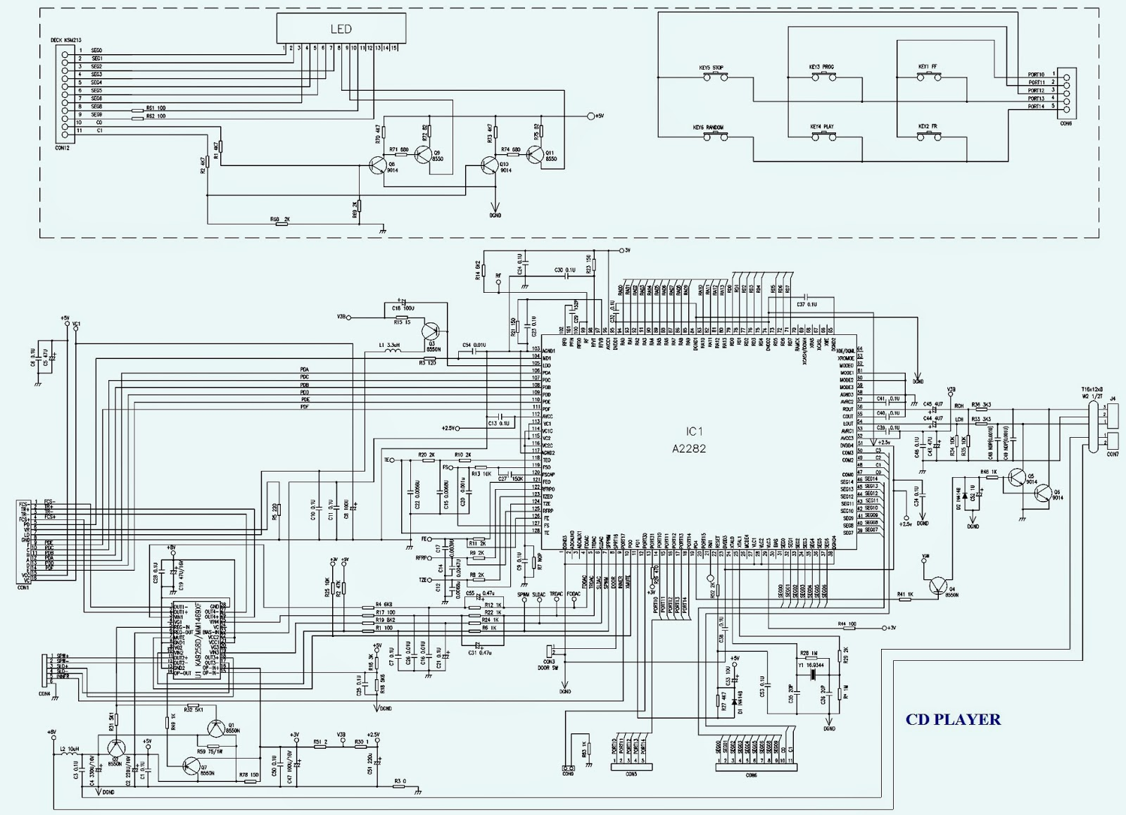 Compact Disc Player Schematic - Application Wiring Diagram •