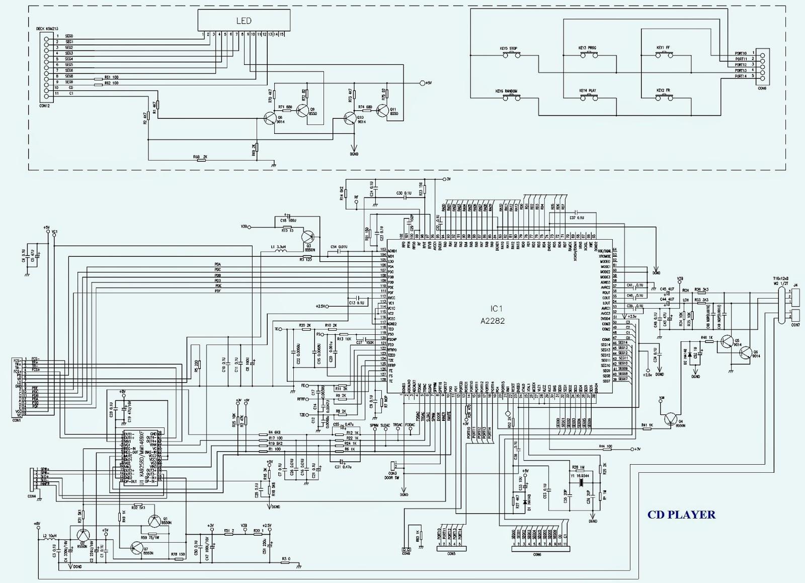 cd player schematic bookmark about wiring diagram Refrigerator Wiring Diagram