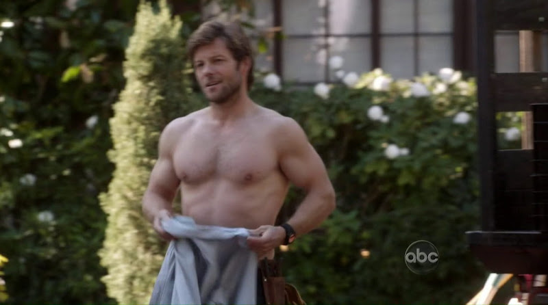 Jamie Bamber Shirtless Body of Proof s2e17