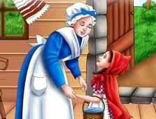 vestimenta madre de caperucita roja