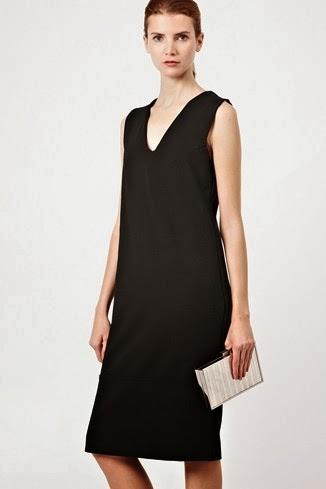 düz kesim siyah elbise modeli