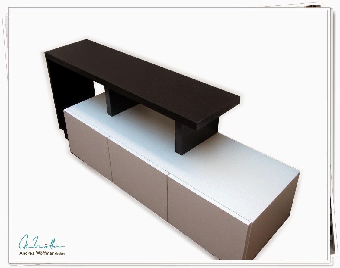mueble LCD laqueado