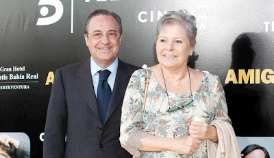Florentino Perez and his wife Maria Angeles Sandoval 'Pitina'