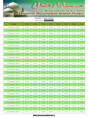Jadwal Imsakiyah Probolinggo Ramadhan 1436 H