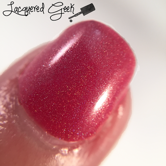 Fair Maiden Polish Stargazer nail polish swatch macro by Lacquered Geek