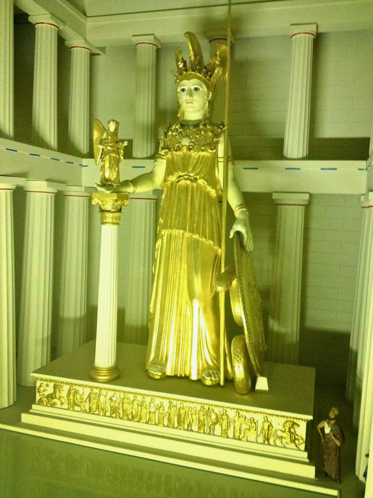 reproduction of Phidias' Athena Parthenas