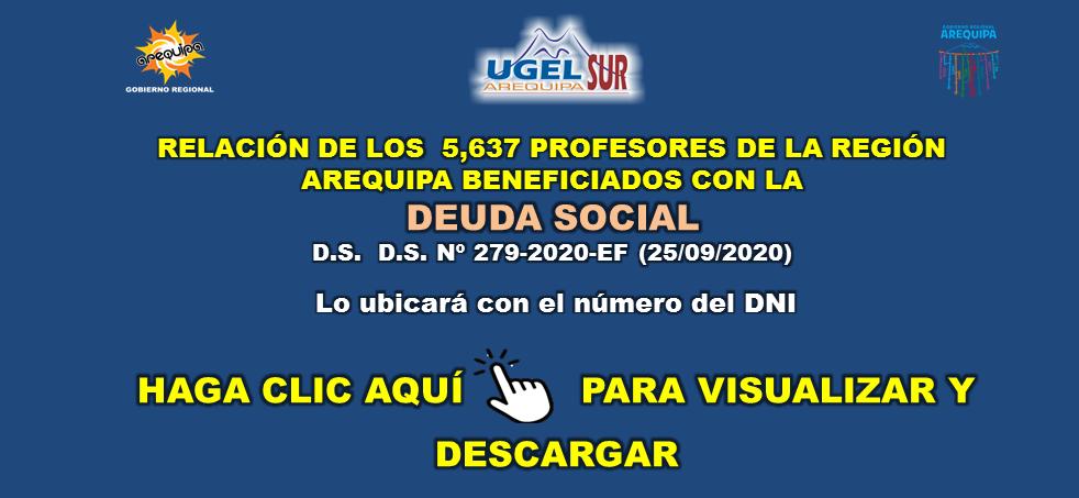 RELACIÓN DOCENTES DEUDA SOCIAL 26 SET. 2020