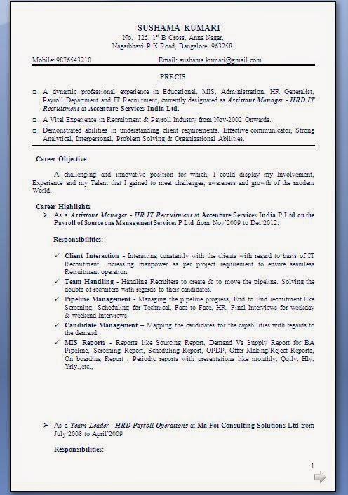 Resume Writing Services - CV - Bio data - Naukri com