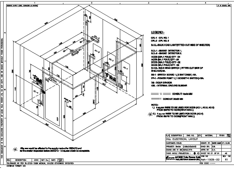 general knowledge for electrical  electrical layout for telecom