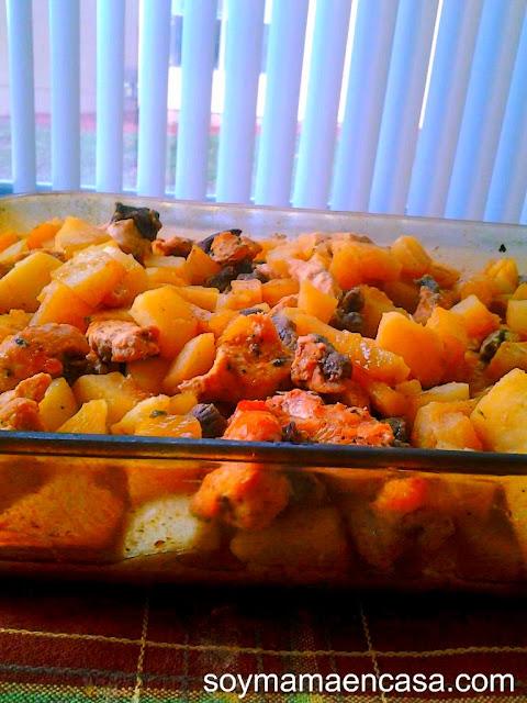 receta de pollo y carne de res