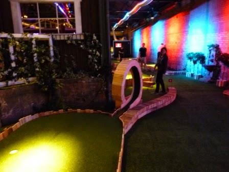 Swingers Crazy Golf in Shoreditch, London