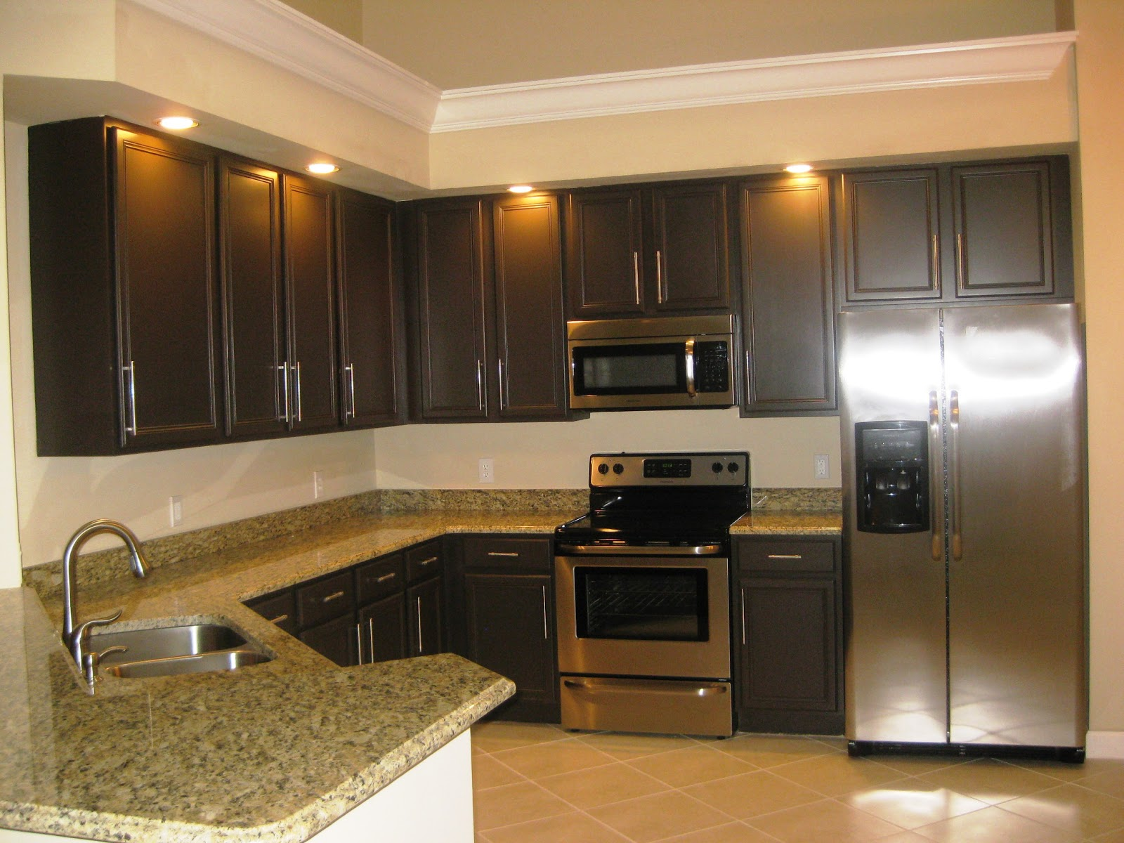 Array of color inc paint kitchen cabinets for Kitchen paint colors with dark wood cabinets