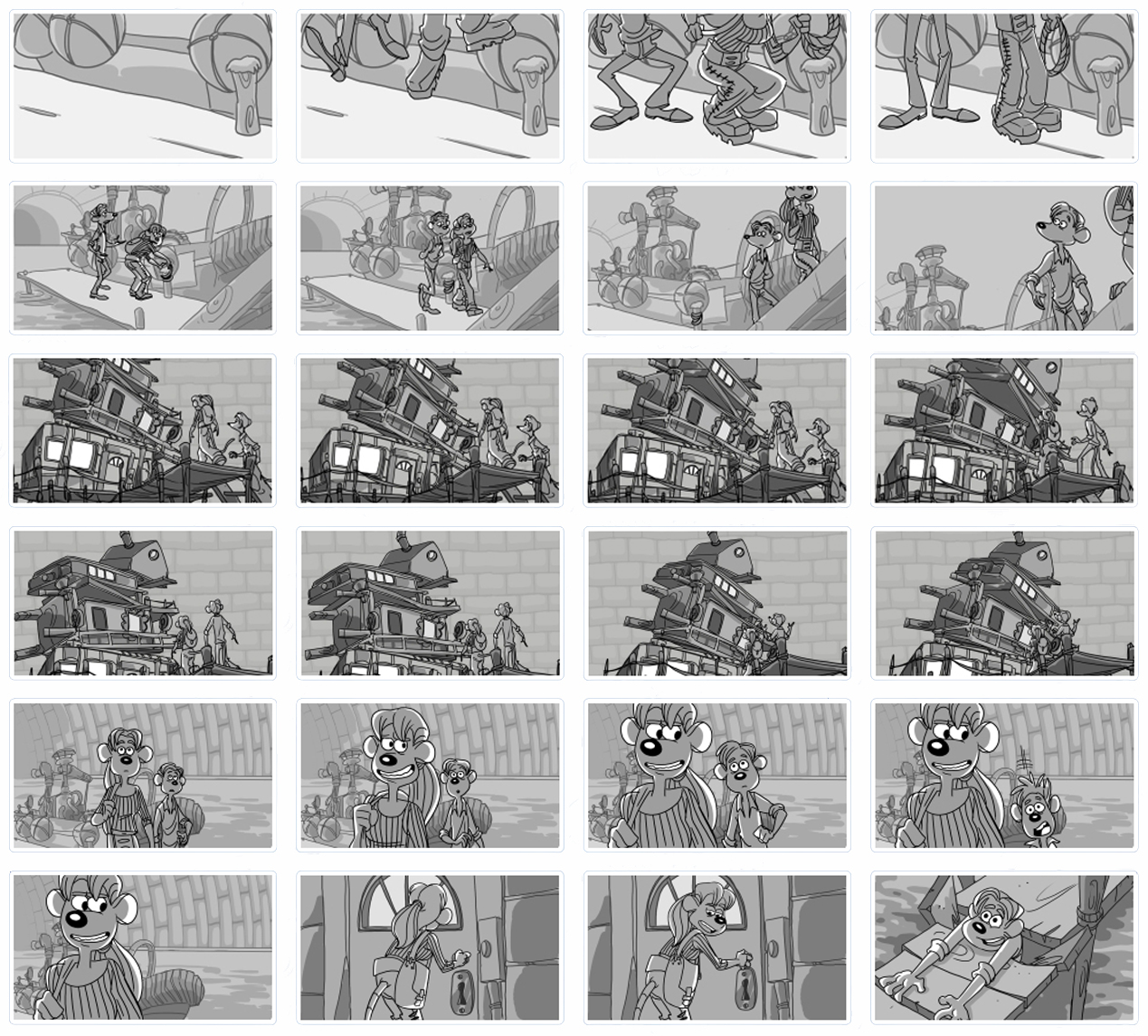 Living Lines Library Flushed Away 2006 Storyboards