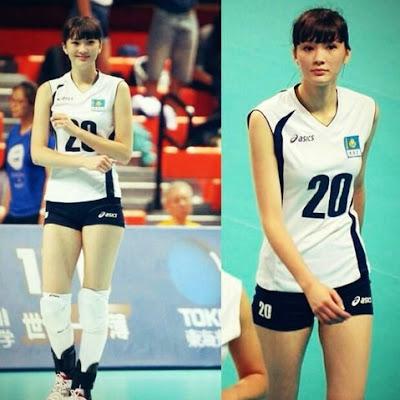 Foto Cewek Cantik Sabina Altynbekova Gadis Kazakhstan Pemain Voli