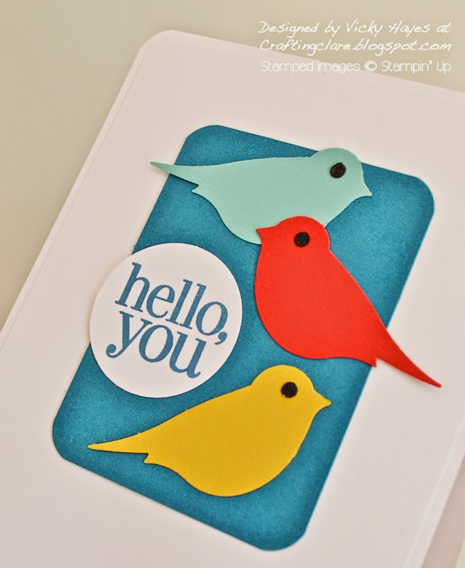 Create a card for the ColourQ challenge with UK independent Stampin' Up demonstrator Vicky Hayes