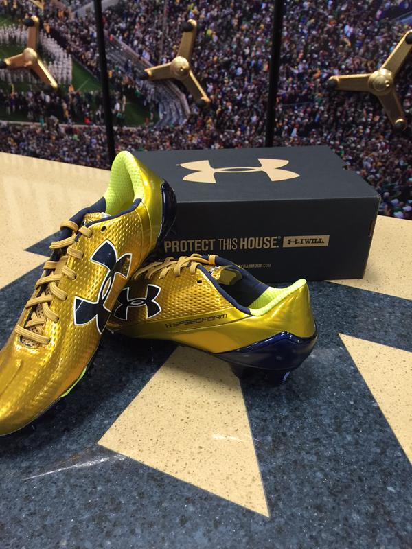 notre dame under armour shoes