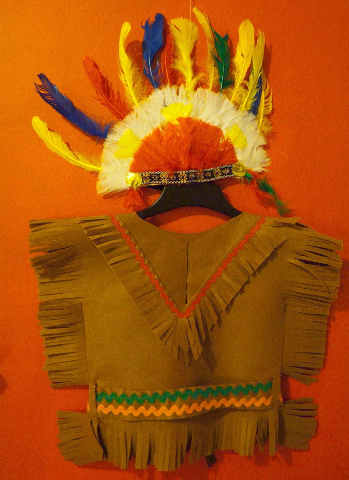 como hacer un disfraz de indio para nino paso a paso