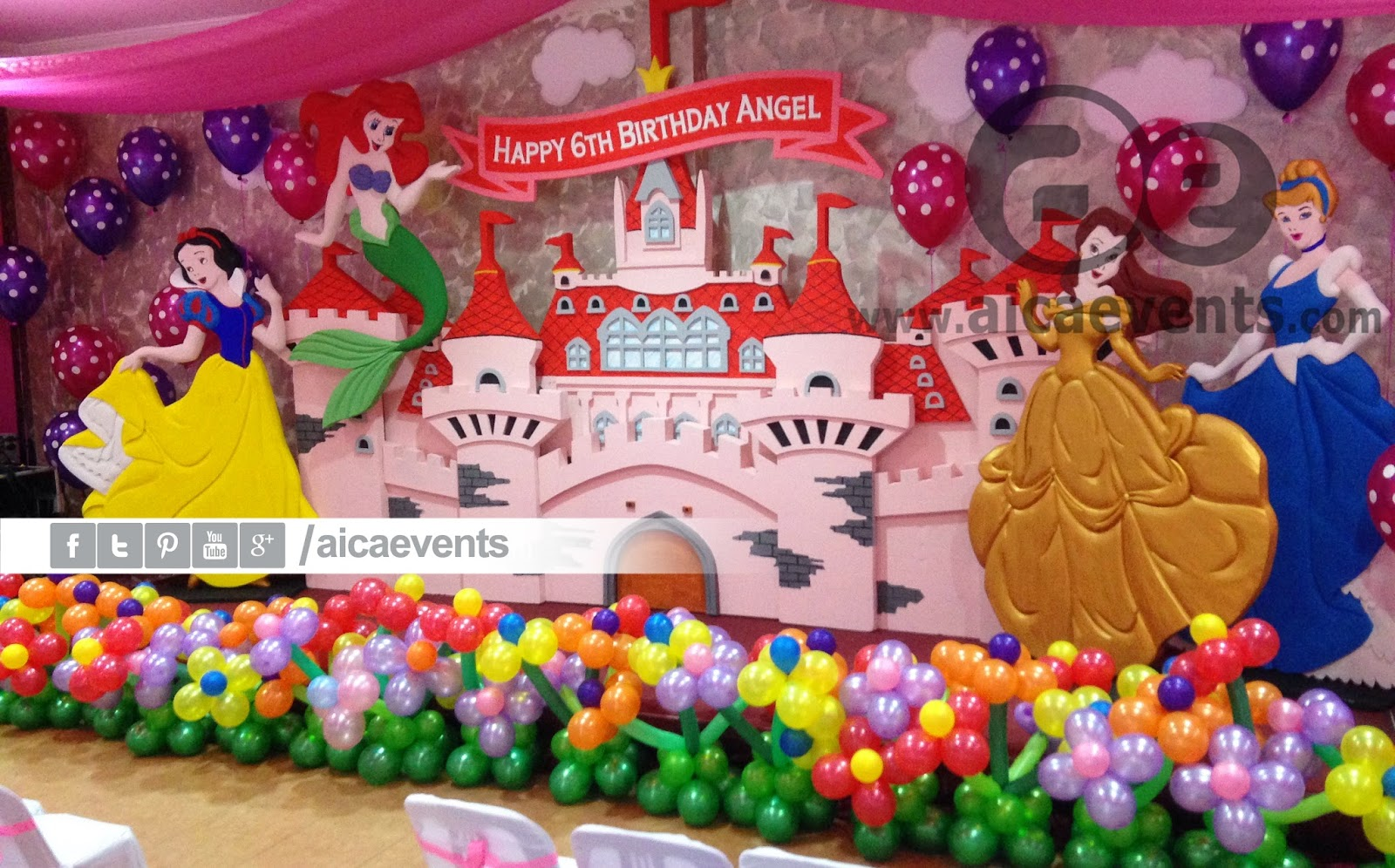 aicaevents: castle and princess theme decorations