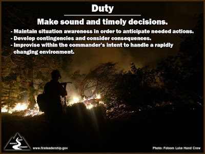 Duty: Make sound and timely decisions.