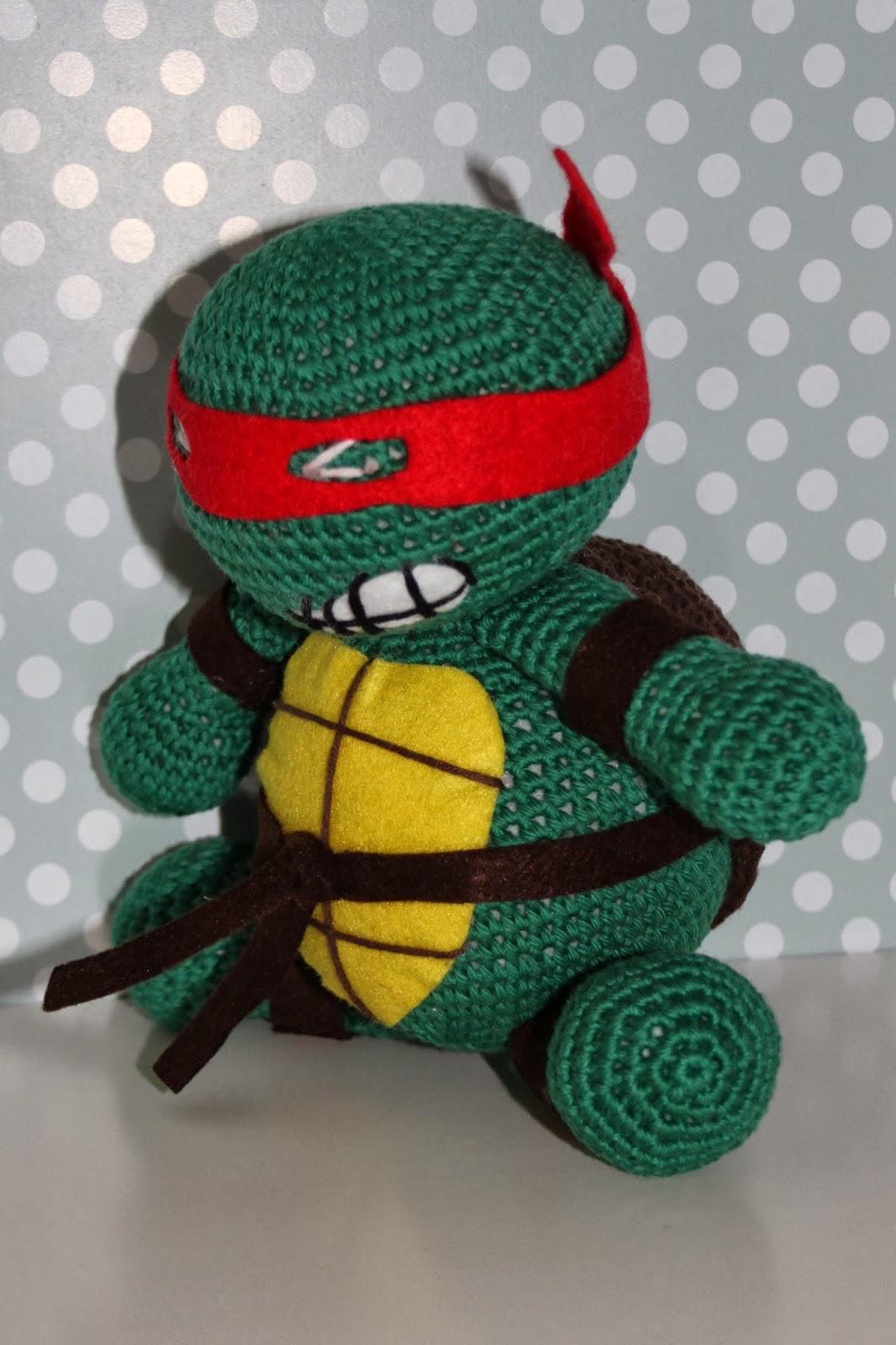 Amigurumi Tortuga Ninja Paso A Paso : Guinos de lana: Tortugas ninja!!!