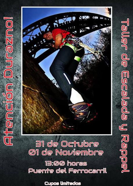 Taller de escalada y rappel en Durazno (Latitud aventura, 31/oct y 01/nov/2015)