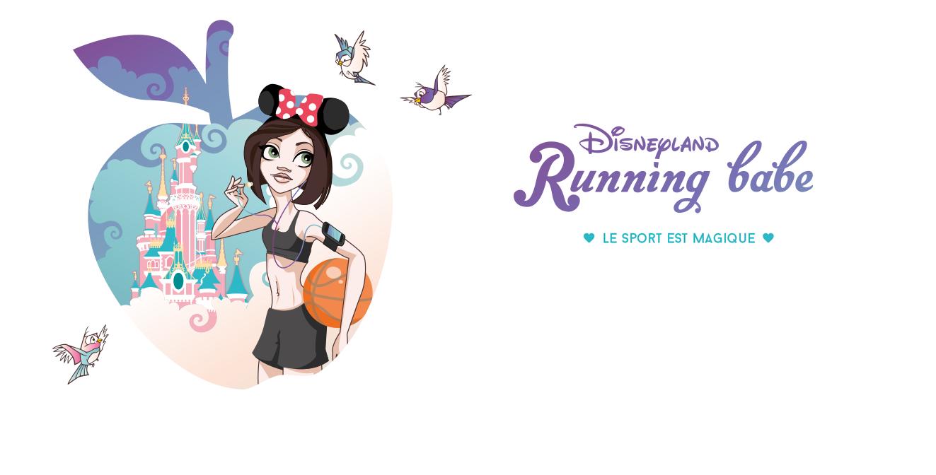 Disneyland Running Babe