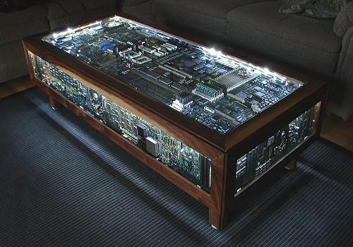 Kewl Design Alert Gorgeous Circuit Board Coffee Table