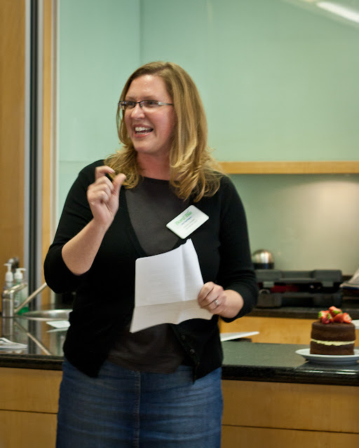Kristin Jensen at Irish Food Bloggers workshop