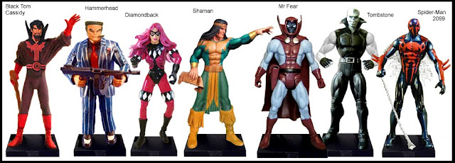 <b>Wave 21</b>: B.T. Cassidy, Hammerhead, Diamondback, Shaman, Mr Fear, Tombstones, Spider-Man 2099