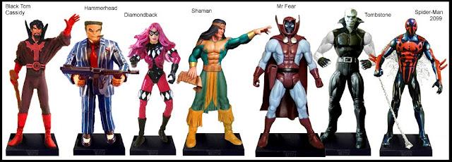 <b>Wave 21</b>: B.T. Cassidy, Hammerhead, Diamondback, Shaman, Mr Fear, Tombstones, Spider-Man 2099