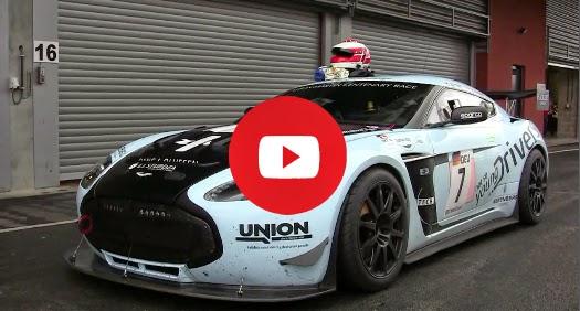 Aston Martin V12 Zagato démarrage et des accélérations