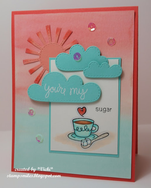 Coffee Card by Vicki for Inky Paws Challenge | Love a la carte stamp set by Newton's Nook Designs