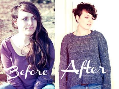 Elsa, avant et après sa visite dans notre salon de coiffure à Montpellier, le Studio 54.