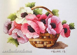 mini haft - koszyk kwiatow