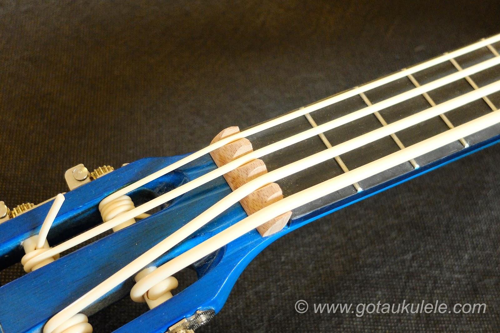 Buzzards Field Bass Afan Ukulele nut