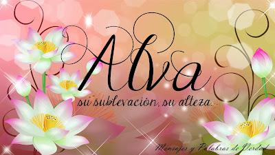 Otras  variaciones de Alva: Alba, Albania, Albba, Alvan.