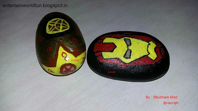 Decorative Marble Stone Painting With Acrylic Colour