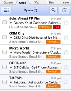 Gmail мобильная версия - фото 5