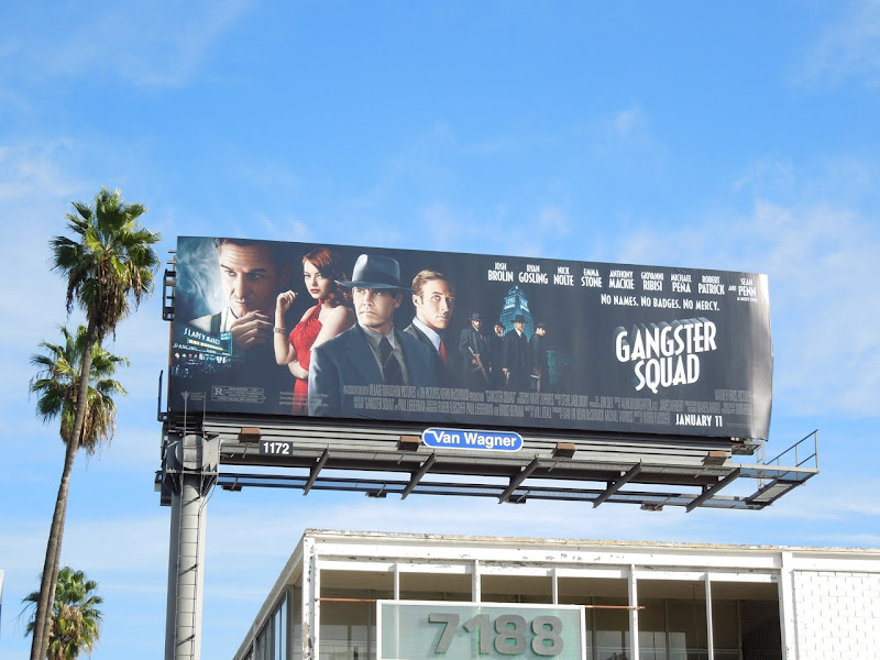 Gangster Squad movie billboard