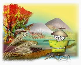 日本の秋イラスト(秋風景)無料ダウンロード