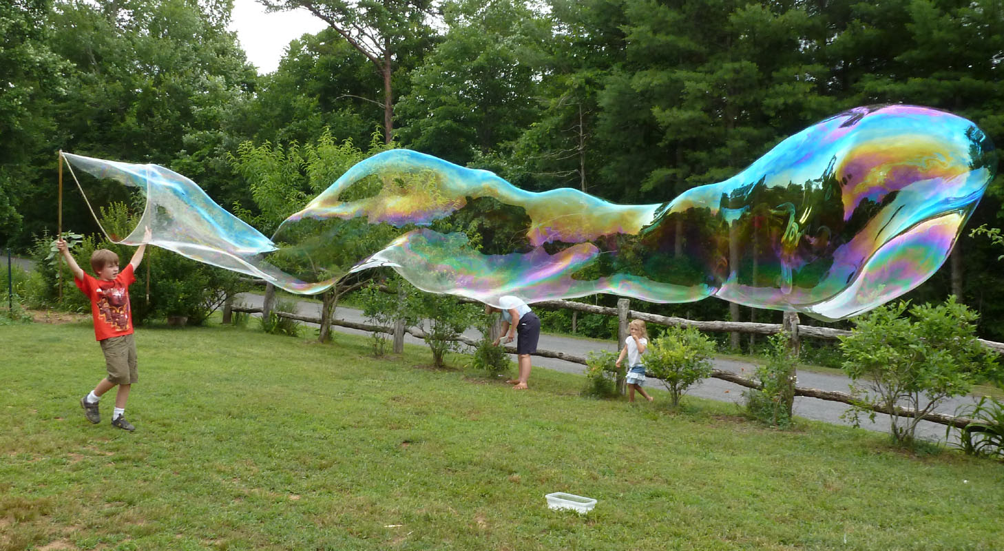 The enchanted tree giant bubbles re visited for Giant bubble wand