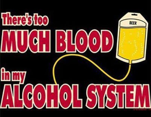 There's too Much Blood in My Alcohol System Shirt