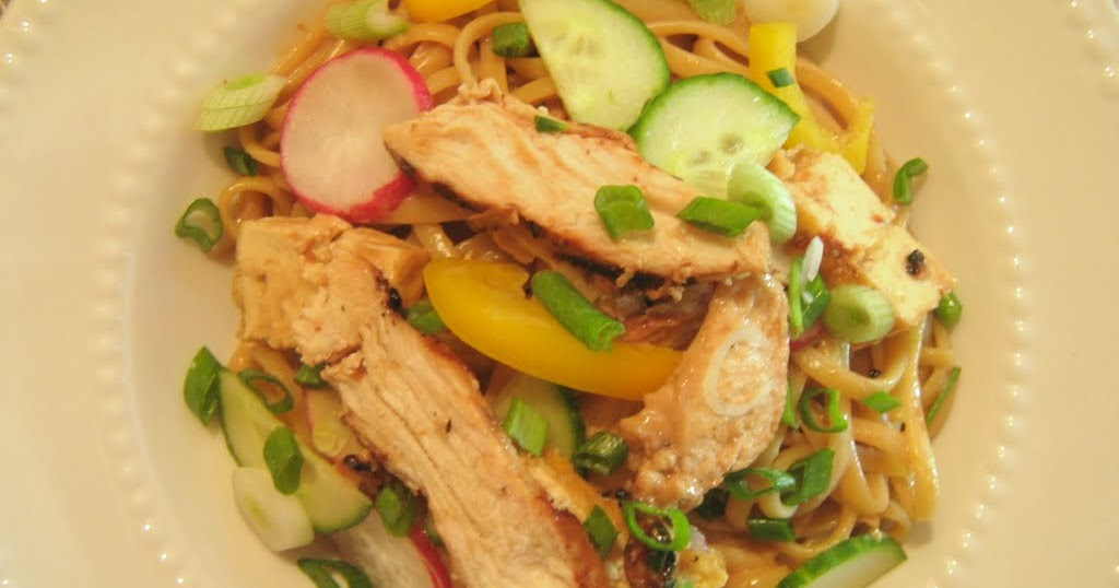 Rindy Mae: Sesame Noodles With Scallions & Radishes