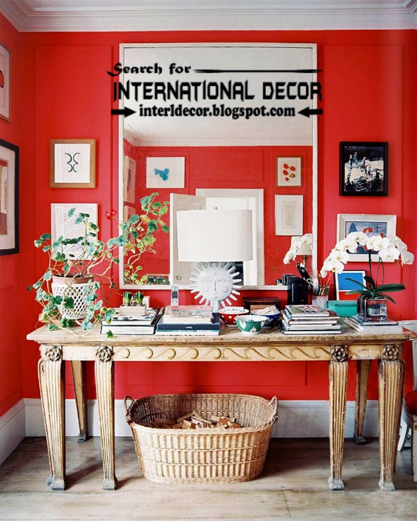 color combinations with red color in the interior, red wall paint ideas