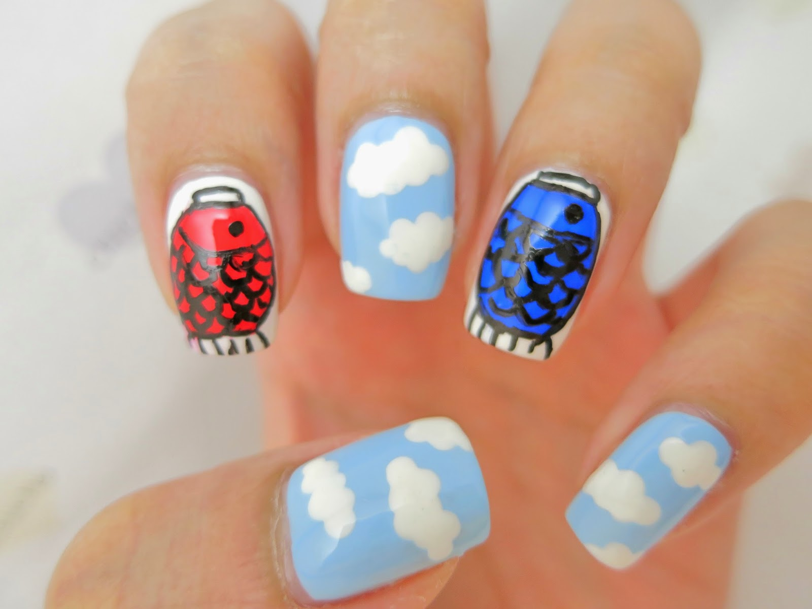 Koinobori Carp Streamers For Childrens Day Nail Art Chichicho