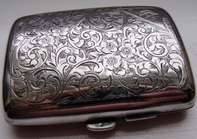 VERY NICE SOLID SILVER CIGARETTE/CARD CASE HALLMARKED BIRMINGHAM