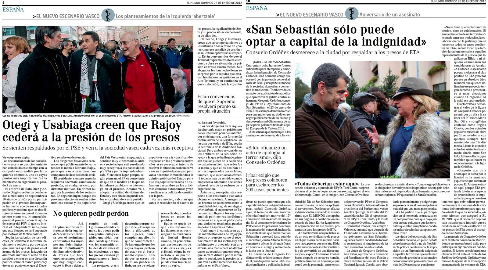 San Sebastián, capital de la indignación