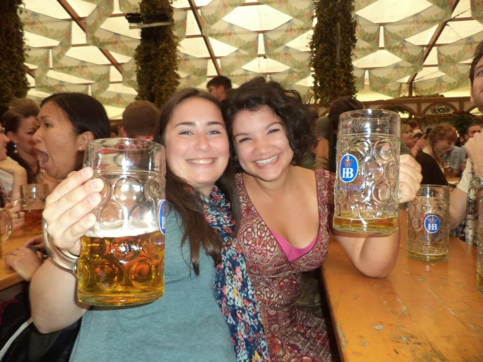 Toasting at Oktoberfest in Munich
